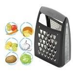 KitchenIQ Box Grater, Charcoal