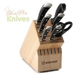 Wusthof Classic Ikon 15-Slot Knife Block Set, 8 Pc., Beechwood