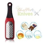 Microplane Artisan Ribbon Grater, High Risk Red