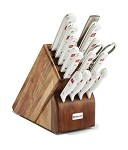 Wusthof Gourmet Knives and Block Set, White Handles, 16 Pc.